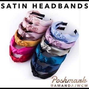 4 for $24- Silk Cross Knot Twist Headbands
